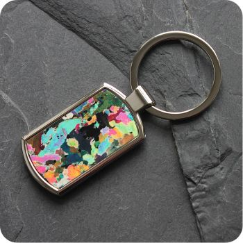 Hornblendite from Avernish, Scotland rock thin section Keyring (K41)