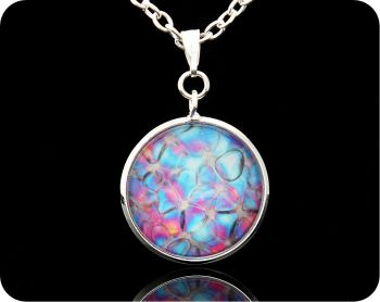 BIOLOGY PENDANT - ROSE STEM SECTION BY POLARISED LIGHT MICROSCOPY (P3)