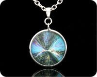 <!-- 00180 -->SCIENCE PENDANT - CHEMICAL CRYSTALS (CITRIC ACID) BY POLARISED LIGHT MICROSCOPY (P5)