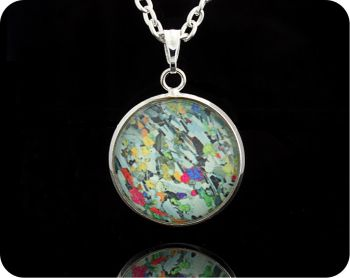 Eucrite from Ardnamurchan, Scotland rock thin section Geology Pendant (P65)