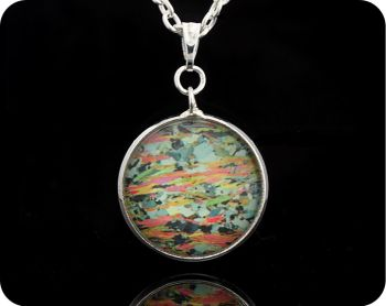 Mica Schist from Loch Eilt, Scotland rock thin section Geology Pendant (P60)