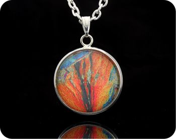 Barytes from Strontian, Scotland rock thin section Geology Pendant (P63)