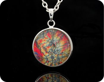Barytes from Castleton, England rock thin section Geology Pendant (P64)