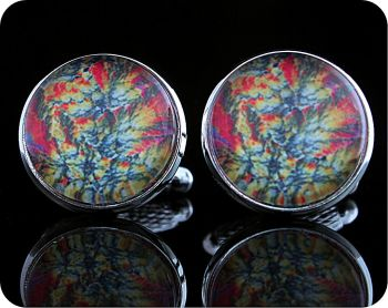 Barytes from Castleton, England rock thin section Cufflinks (CL64)
