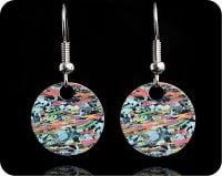 <!-- 00072 -->Geology earrings - Mica Schist from Loch Eilt, Scotland rock thin section Earrings (ER60)
