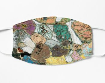 Geology Face Mask - Peridotite from Ardnamurchan, Scotland rock thin section image (FM42)