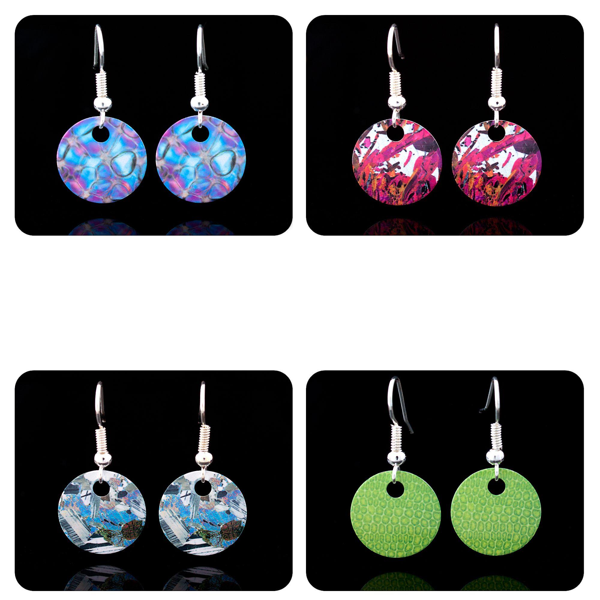 Science earrings