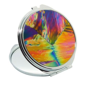 Citric acid crystals (polarised light microscopy) Handbag Mirror (M12)