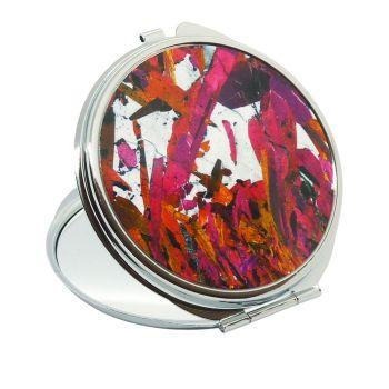 Piemontite from St Marcel, Italy rock thin section Handbag Mirror (M44)
