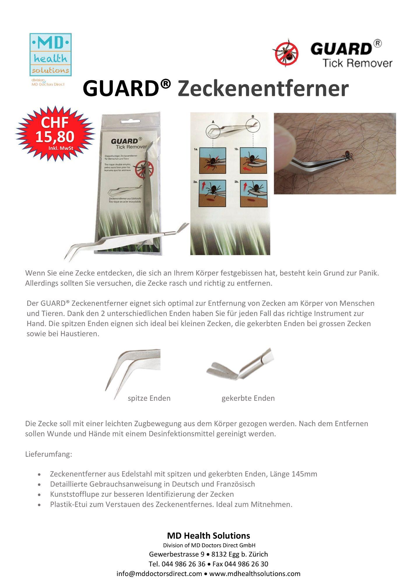 GUARD® Zeckenentferner Web