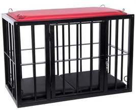 cage with red top
