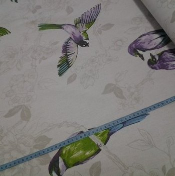 Tropical birds, Purple by Prestigeous Textiles