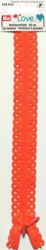 40cm Lace Edged Orange Zip