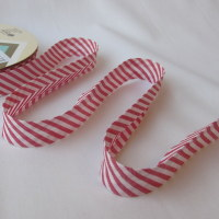 Stripe Bias Binding - Red / White