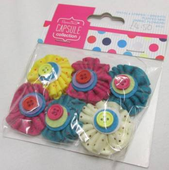 Papermainia Ribbon and Button Flowers