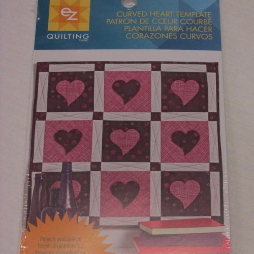 Curved heart template by EZ quilting