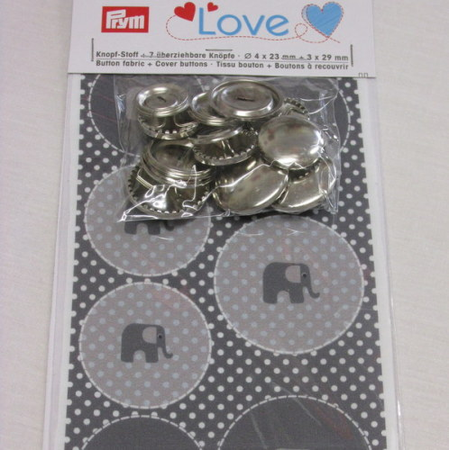 Prym Love Cover Buttons set - Grey