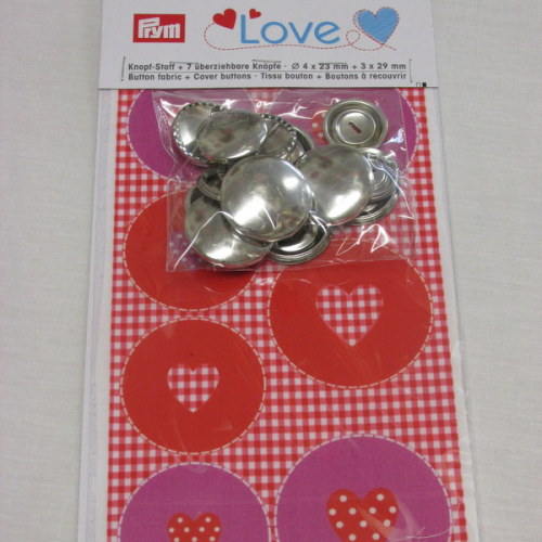 Prym Love Cover Buttons Set - Red