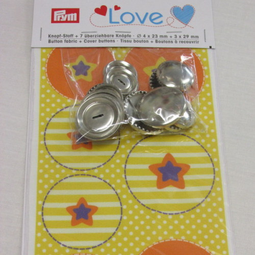 Prym Love Cover Buttons Set - Yellow