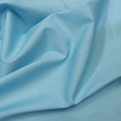 Blue plain dyed cotton