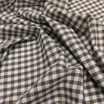 Brown gingham cotton