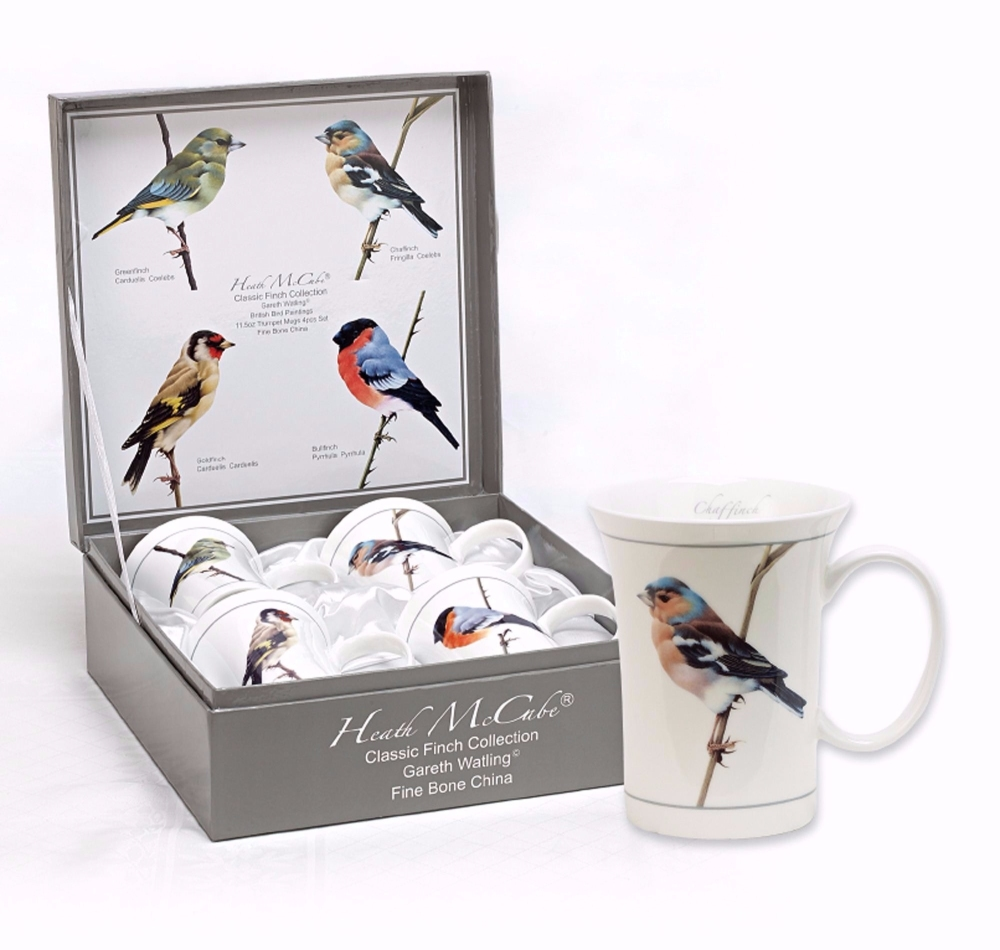British Birds Fine Bone China Mugs in unique Presentation Box