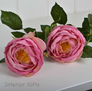 Faux Silk Rose Stem in Old Pink - 70 cm