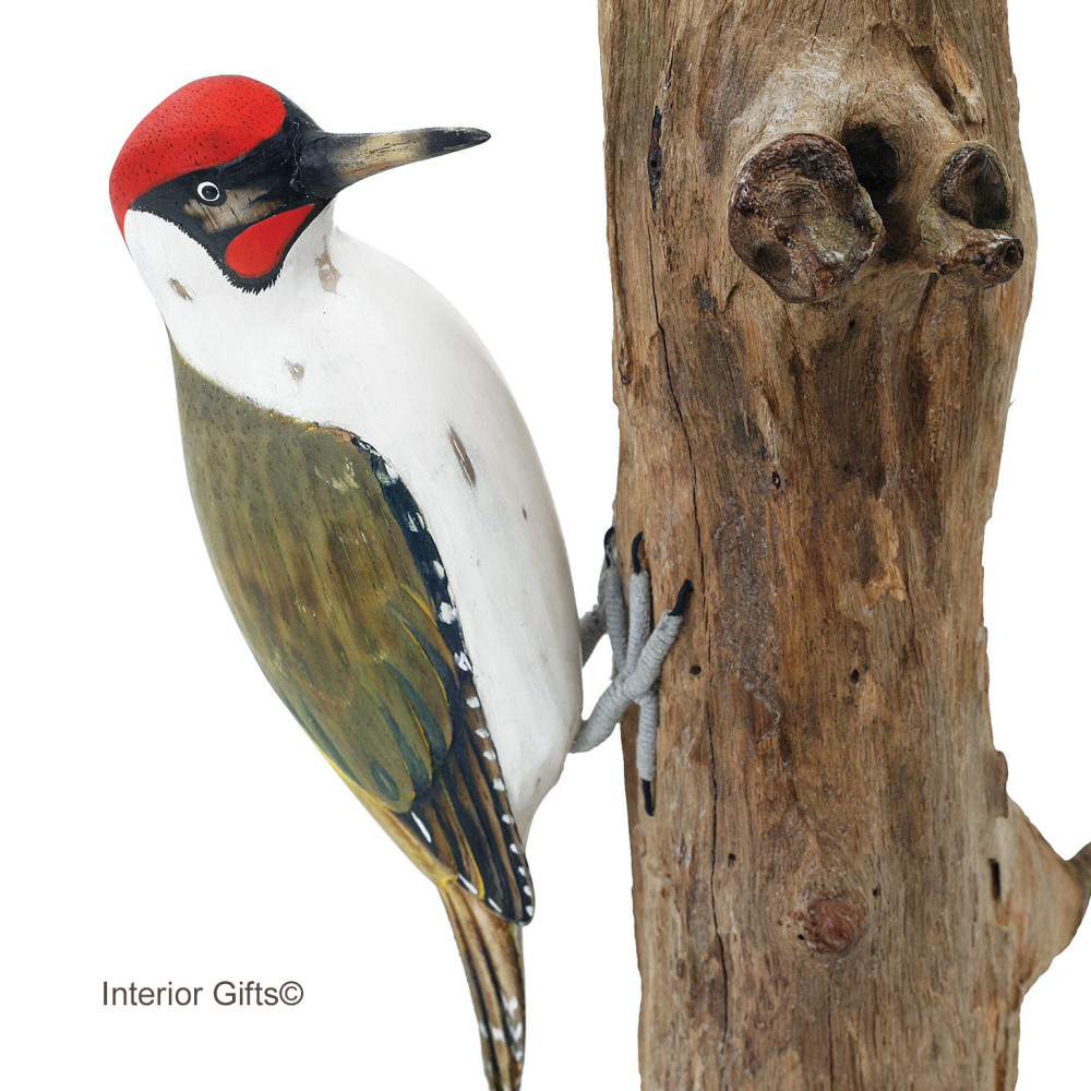 Archipelago Green Woodpecker Wood Carving
