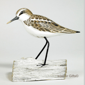 Archipelago Little Stint Standing, Bird Wood Carving