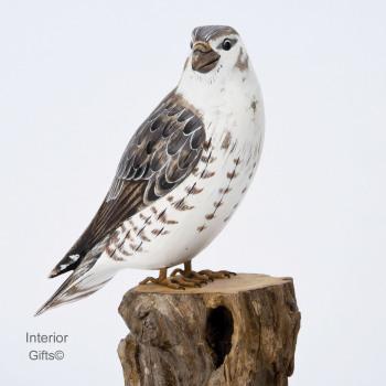 Archipelago Merlin Falcon Bird Wood Carving