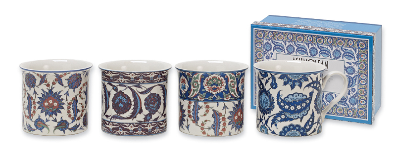 Heath McCabe Empress Iznic Fine Bone China Mugs