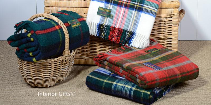 Tartan Wool Blanket or Throw Tweedmill