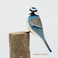 Archipelago Blue Tit Bird Wood Carving