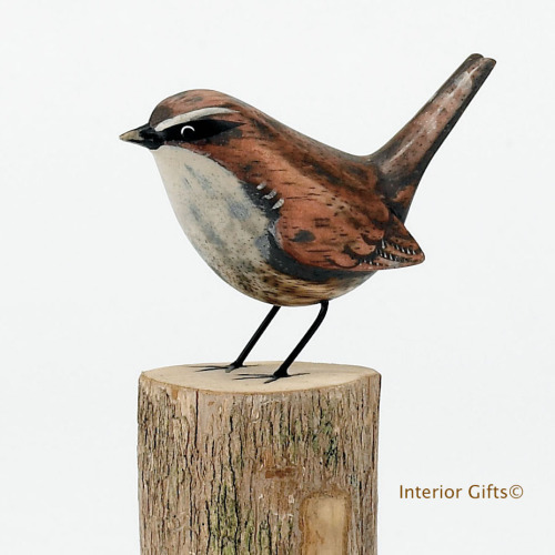 Archipelago Wren Bird Wood Carving