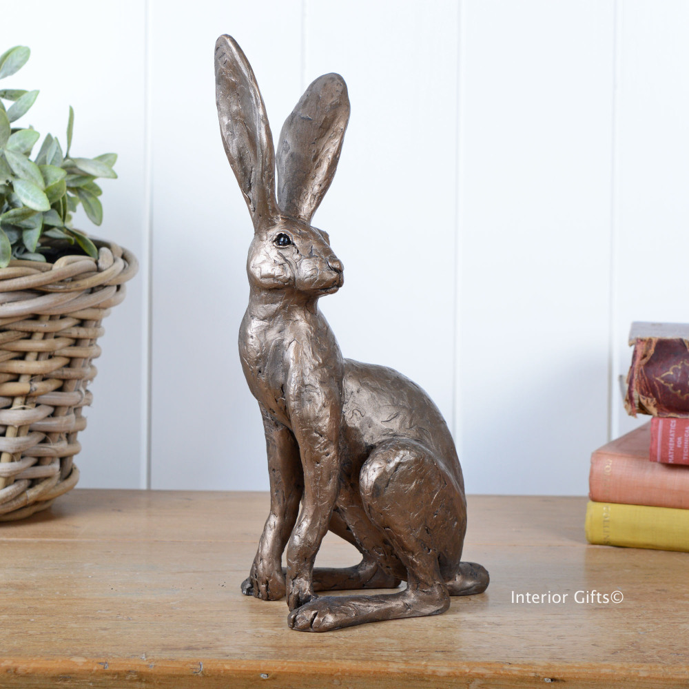 Frith Tarquin Watchful Hare Sculpture Tm038 By Thomas