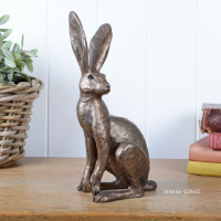 Tarquin Watchful Hare Frith Bronze Sculpture by Thomas Meadows