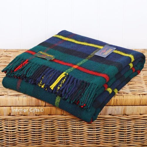Tweedmill Hunting McLeod Tartan Check / Picnic / Throw / Travel Rug / Blank