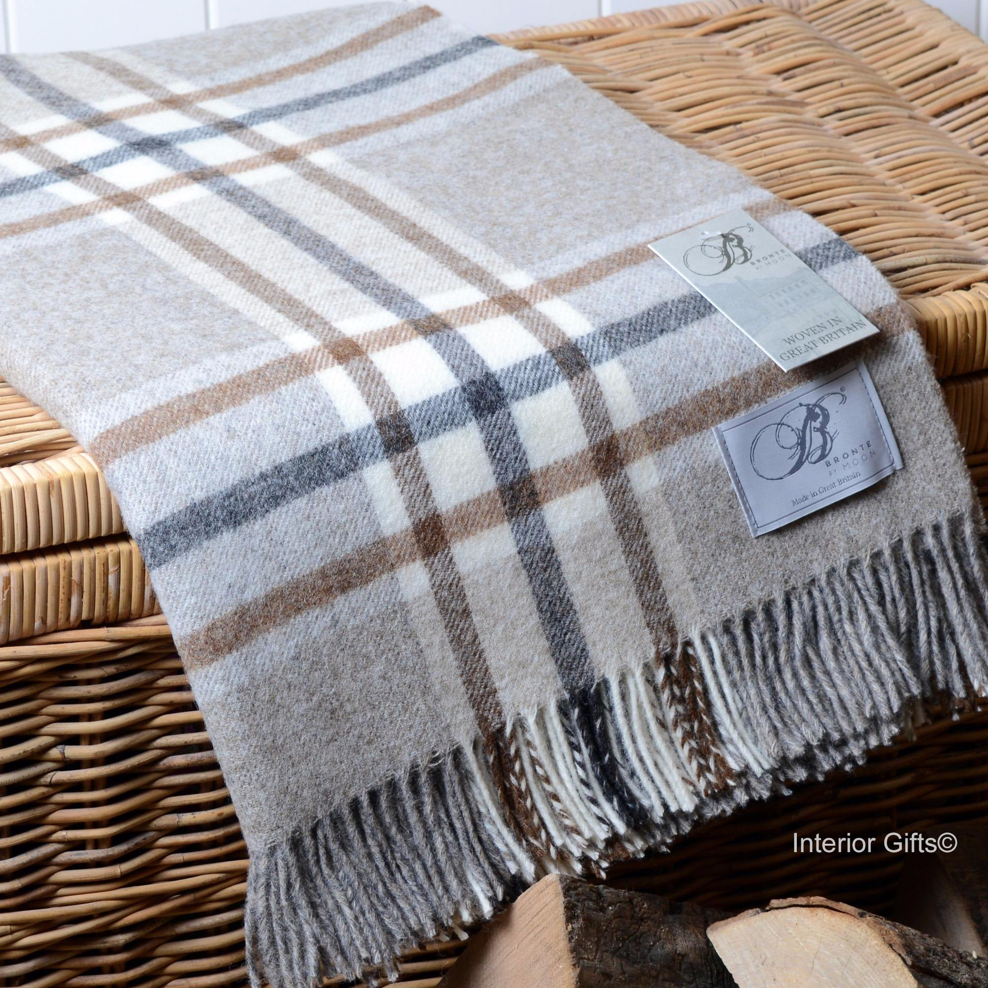 Bronte by Moon Shetland Wool Throw or Blanket