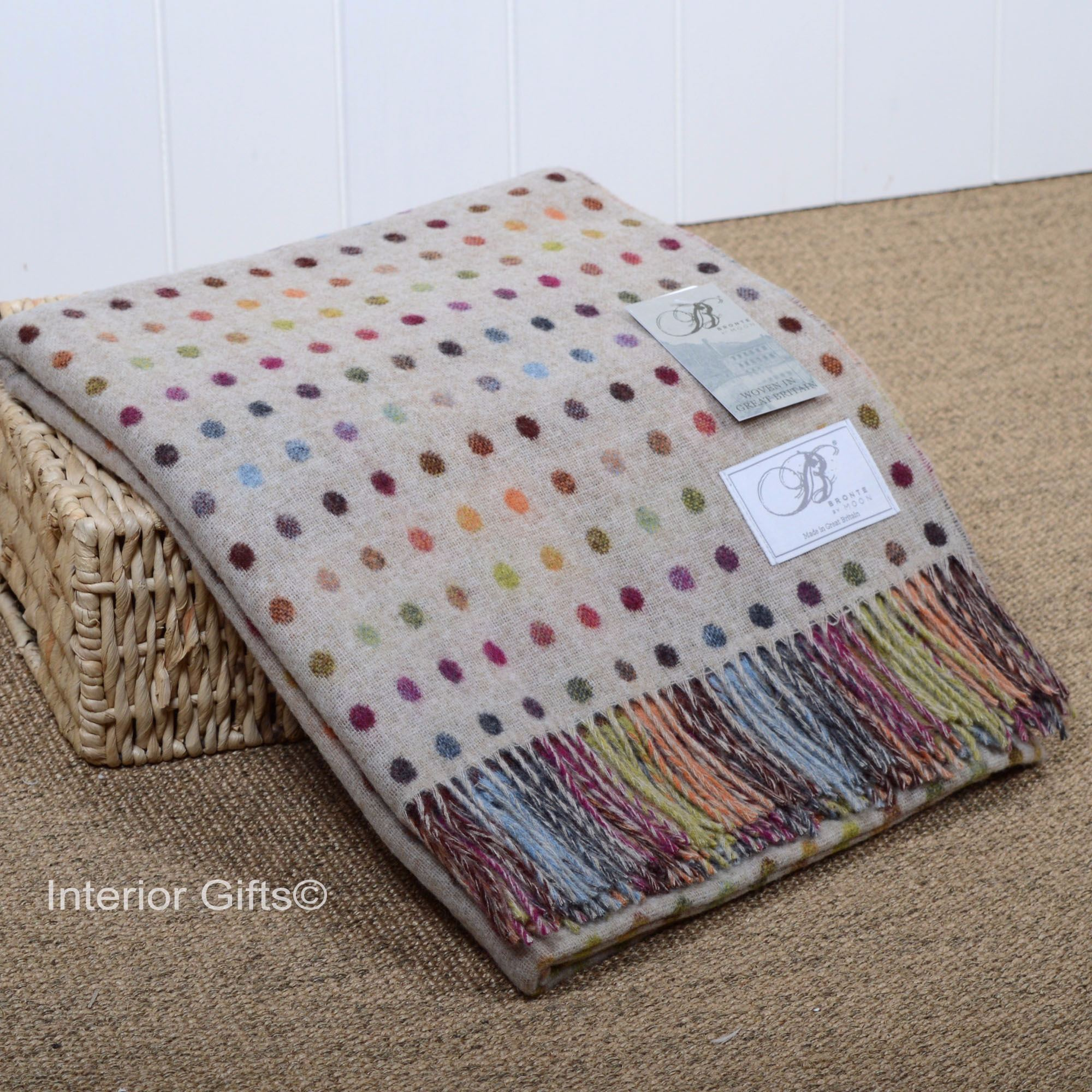 Bronte by Moon Multi Spot Throw or Blanket