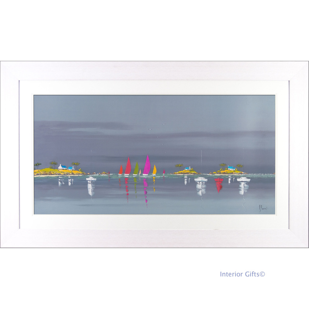 'Boat Reflections II' by Frederic Flanet - 76cmx127cm