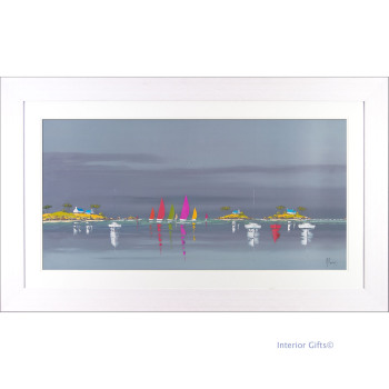 'Boat Reflections I' by Frederic Flanet - 76cmx127cm
