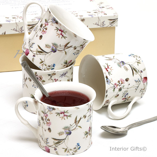 Empress Flowers - Country Garden Fine China Mugs with Gift Box