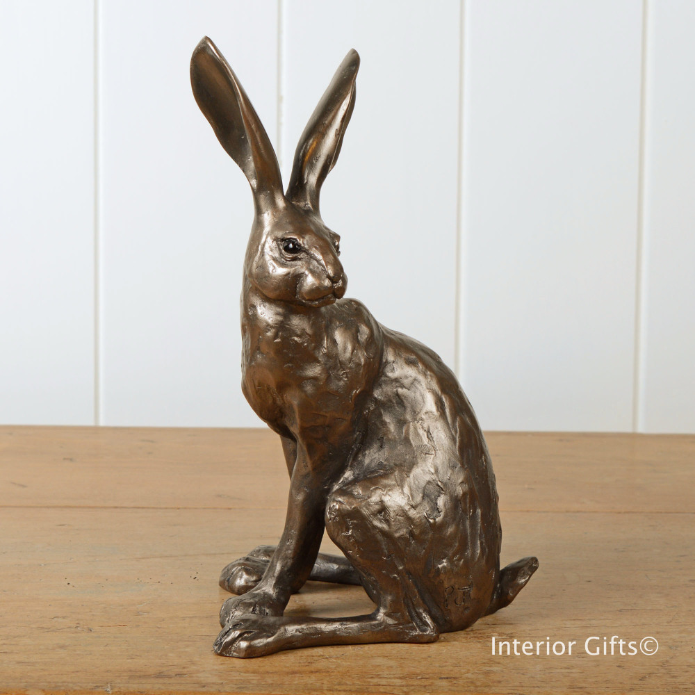 Frith Howard Hare Sculpture By Paul Jenkins In Cold Cast