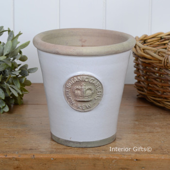 Kew Long Tom Pot in Bone - Royal Botanic Gardens Plant Pot - Medium