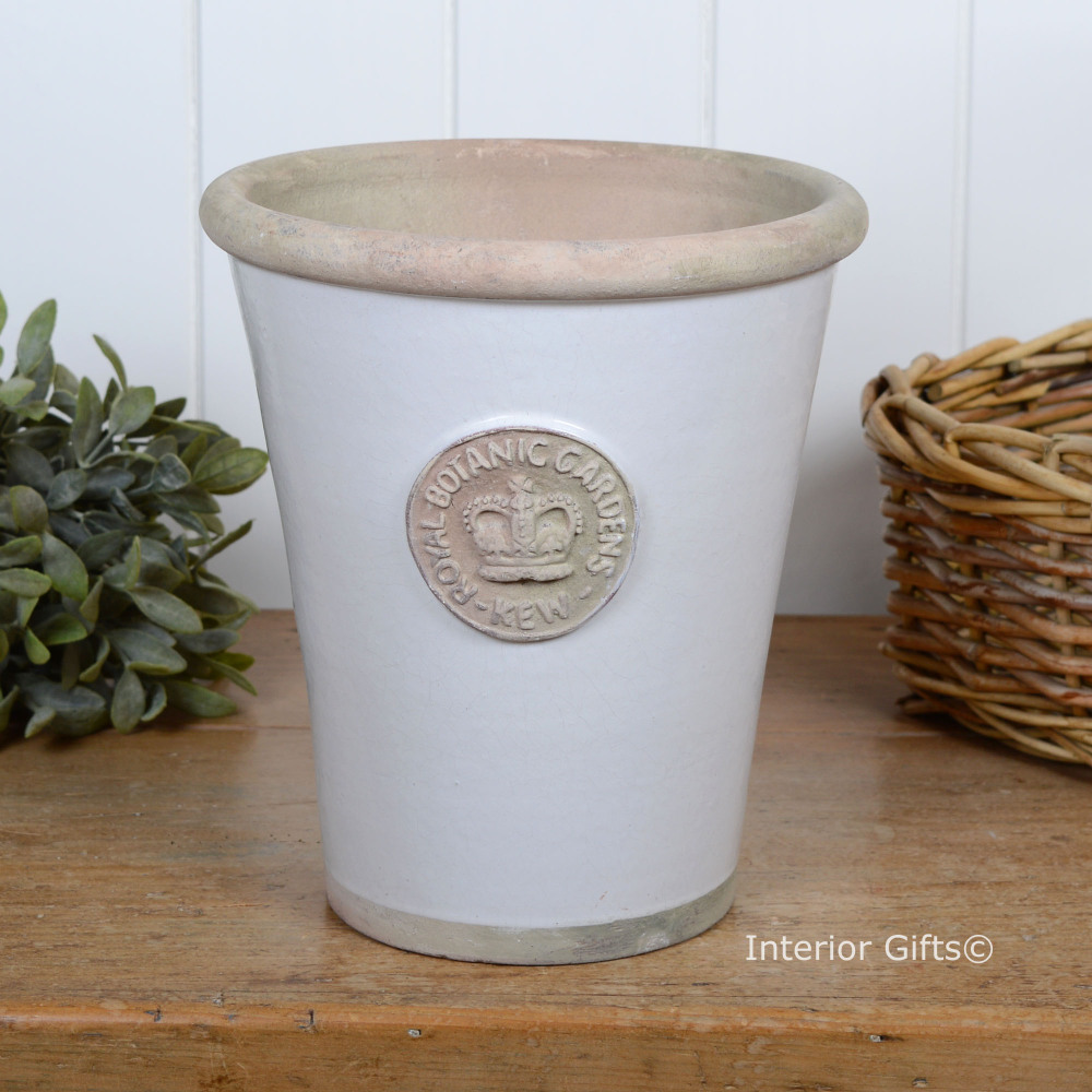 Kew Long Tom Pot in Bone - Royal Botanic Gardens Plant Pot - Large