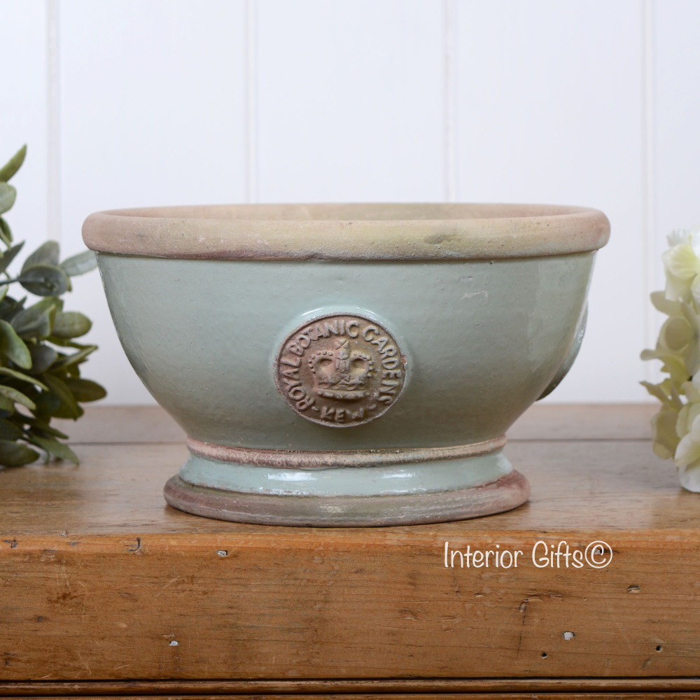Kew Footed Bowl in Chartwell Green - Royal Botanic Gardens Plant Pot - Smal