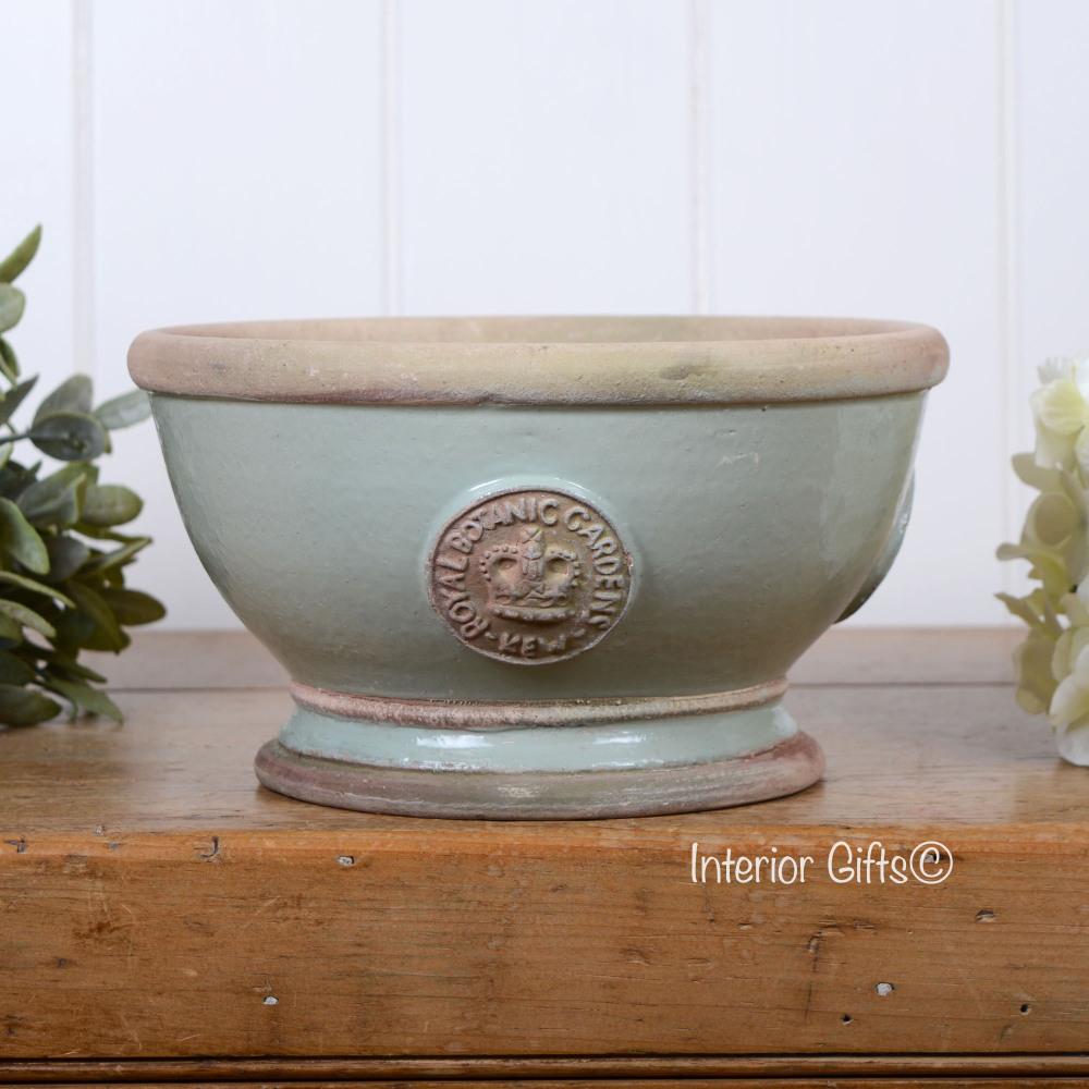 Kew Footed Bowl in Chartwell Green - Royal Botanic Gardens Plant Pot - Smal