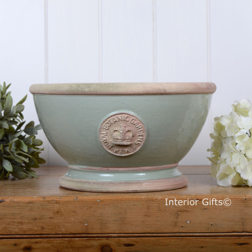 Kew Footed Bowl in Chartwell Green - Royal Botanic Gardens Plant Pot - Larg