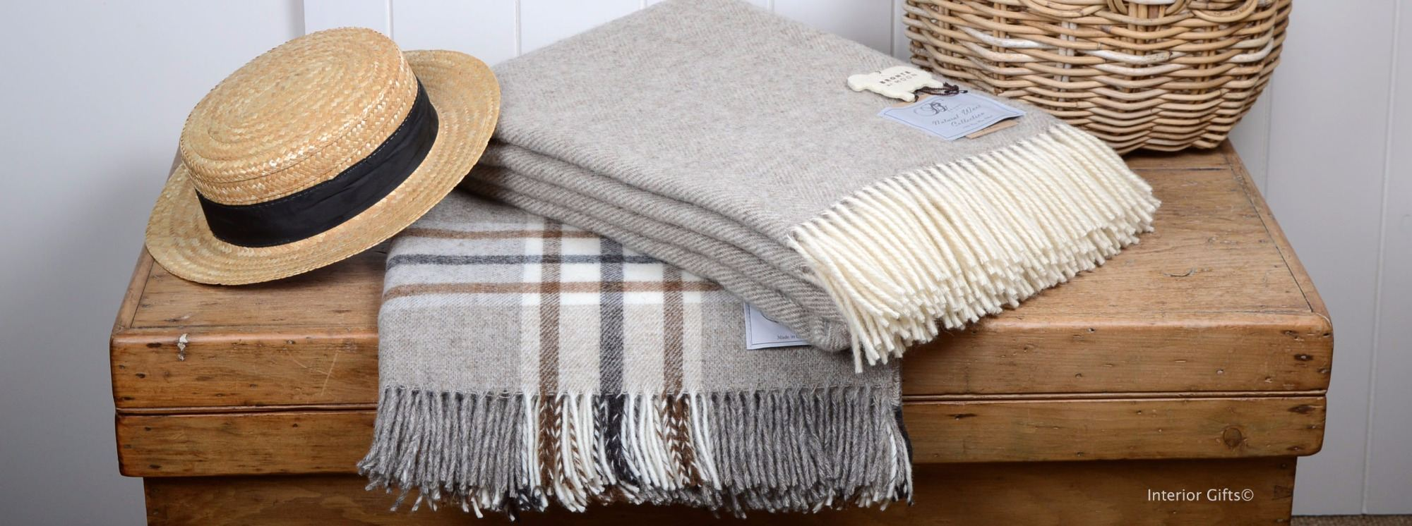 naturally bronte undyed wool throws