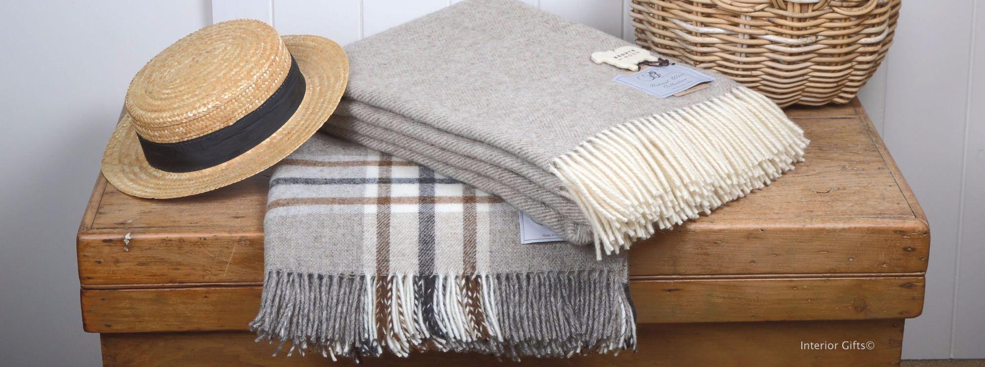 Bronte Throws in Shetland Wool